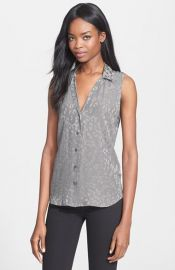 Equipment Adalyn Leopard Jacquard Silk Blouse at Nordstrom