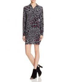 Equipment Clean Lucida Leopard Silk Shirt Dress at Bloomingdales