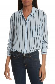 Equipment Daddy Oversize Stripe Silk Shirt at Nordstrom