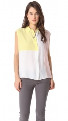 Equipment Diem Clean Blouse with Insets at Shopbop