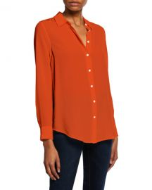 Equipment Essential Button-Down Long-Sleeve Blouse at Neiman Marcus