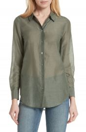 Equipment Essential Cotton  amp  Silk Shirt at Nordstrom