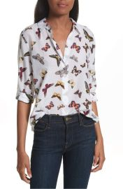 Equipment Essential Sheer Cotton and Silk Shirt at Nordstrom