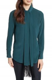 Equipment Essential Tie Neck Silk Blouse at Nordstrom
