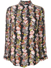 Equipment Floral Stripe Shirt at Farfetch