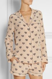Equipment Heart Print Pajamas at Net A Porter