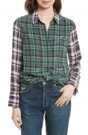 Equipment Holly Colorblock Plaid Silk Shirt at Nordstrom