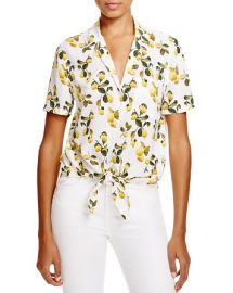 Equipment Keira Tie Front Silk Top - 100 Bloomingdaleand039s Exclusive at Bloomingdales