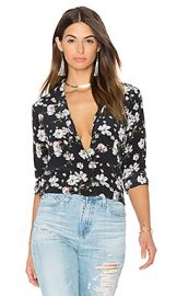 Equipment Leema Ditsy Floral Print Button Up in True Black Multi from Revolve com at Revolve