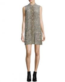 Equipment Lucida Sleeveless Button-Front Shirtdress NudeMulti at Neiman Marcus