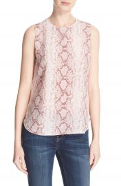 Equipment Lyle Sleeveless Silk Print Top at Nordstrom