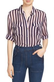 Equipment Major Stripe Silk Shirt at Nordstrom Rack