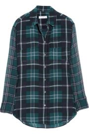 Equipment Plaid Blouse at Net A Porter