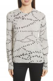 Equipment Shane Bird Print Cashmere Sweater at Nordstrom