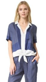Equipment Short Sleeve Terra Tie Front Blouse at Shopbop