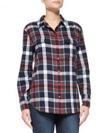 Equipment Signature Plaid Flannel Shirt at Neiman Marcus