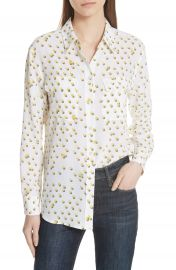 Equipment Signature Tennis Ball Silk Blouse at Nordstrom