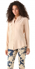 Equipment Signature blouse in nude from Shopbop at Shopbop