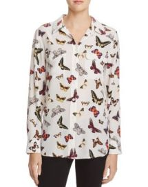 Equipment Slim Signature Butterfly Print Silk Shirt at Bloomingdales