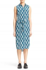 Equipment Tegan Ikat Print Silk Shirtdress at Nordstrom
