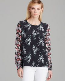 Equipment Top - Liam Fresh Floral Print at Bloomingdales