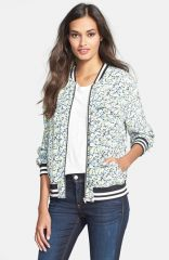 Equipment and39Abbotand39 Flower Print Silk Bomber Jacket at Nordstrom