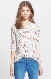 Equipment and39Brettand39 Floral Print Silk Blouse at Nordstrom