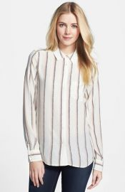 Equipment and39Brettand39 Stripe Silk Shirt at Nordstrom