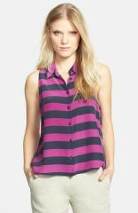 Equipment and39Minaand39 Stripe Silk Top at Nordstrom