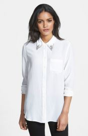 Equipment and39Reeseand39 Embellished Silk Shirt at Nordstrom