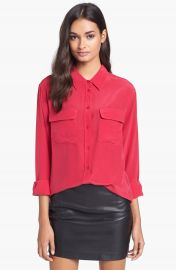 Equipment and39Signatureand39 Silk Shirt in red at Nordstrom