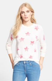 Equipment and39Sloanand39 Star Pattern Cashmere Pullover in Watermelon at Nordstrom