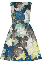 Erdem  Kenya printed duchesse-satin mini dress at Net A Porter
