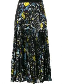 Erdem Floral Print Pleated Skirt at Farfetch