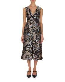 Erdem Kamila Paisley Floral A-Line Dress at Neiman Marcus