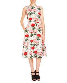 Erdem Maia Floral-Print Midi Dress at Neiman Marcus