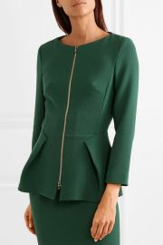 Erickson wool-crepe jacket at Net A Porter