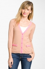 Erin's pink bow pocket cardigan at Nordstrom