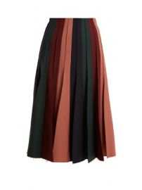 Ernst contrast-panel pleated wool-blend skirt at Matches