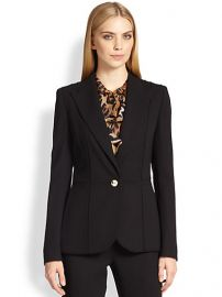 Escada - Paneled One-Button Wool Jacket at Saks Fifth Avenue