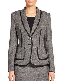 Escada - Piped Tweed Jacket at Saks Fifth Avenue
