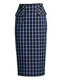 Escada - Redka Windowpane Pencil Skirt at Saks Fifth Avenue