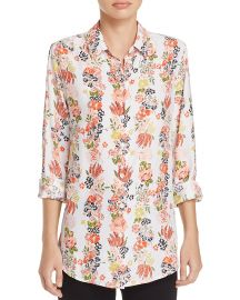 Essential Floral Print Silk Shirt at Bloomingdales