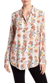 Essential Floral Silk Button Down Blouse by Equipment at Nordstrom Rack