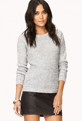 Essential Waffle Knit Sweater  LOVE21 - 2027704589 at Forever 21