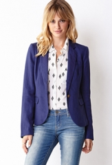 Essential linen blazer at Forever 21