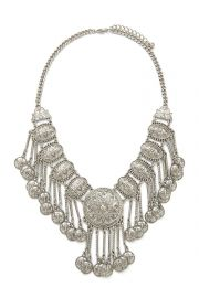 Etched Medallion Statement Necklace at Forever 21