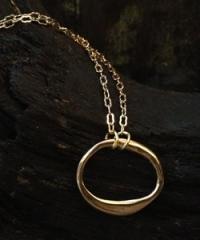 Eternity Puffed Circle Pendant at Kami Lerner