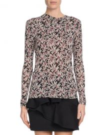 Etoile Isabel Marant Trend Floral-Print Long-Sleeve Top   Neiman at Neiman Marcus