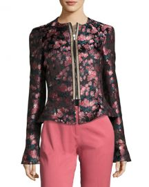 Etro Floral Jacquard Fencing Jacket  at Neiman Marcus